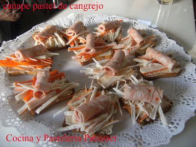 Canapés de cangrejo